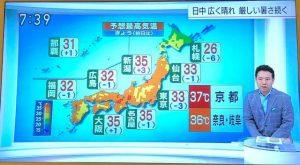 京都最高気温8/18