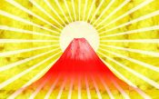 金箔と富士山