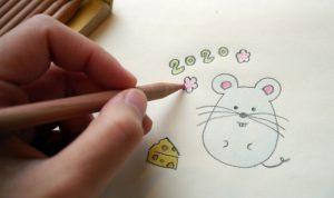ネズミをお絵かき