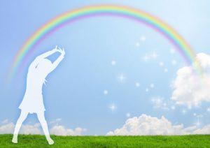 虹とリフレッシュのイメージ
