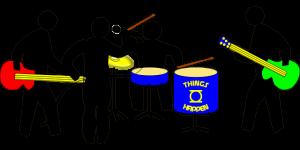 バンド、ドラム中心