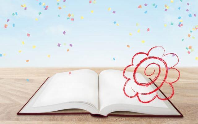 本と花マル