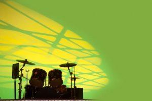 ドラムセット緑