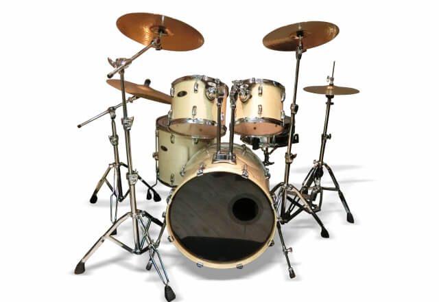 ドラムセット白背景