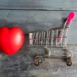 ショッピングカートとハート
