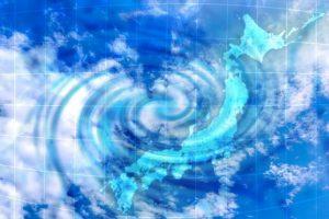 日本列島と台風