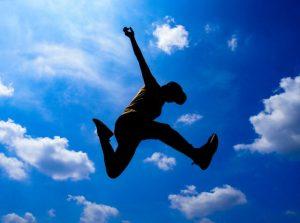 空にジャンプ