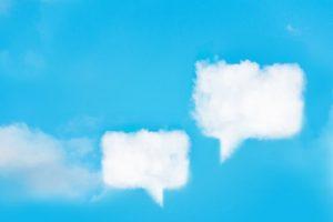 雲の吹き出し