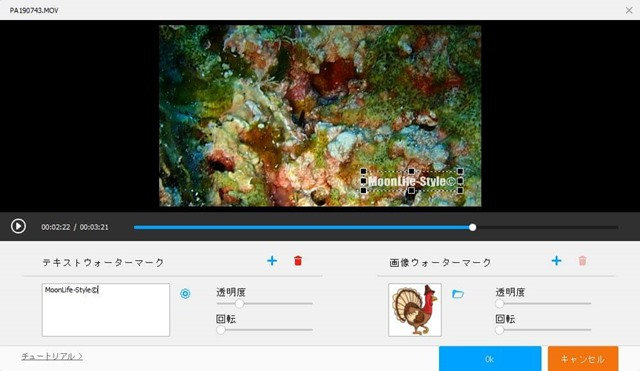 HDVC-ウォーターマーク画面
